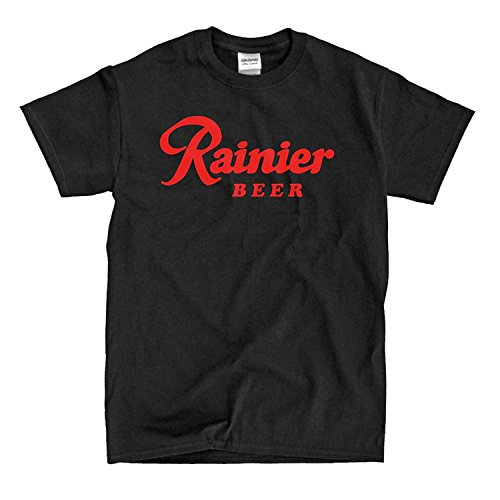 Cleshion Leisure Rainier Beer Black Mens T-Shirt