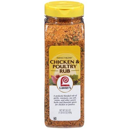 Perfect Blend Chicken & Poultry Rub, 24.5 oz,Features a Blend of Natural Flavors and Seasonings, Including Garlic and Rosemary,Pack of 3 by Great Value