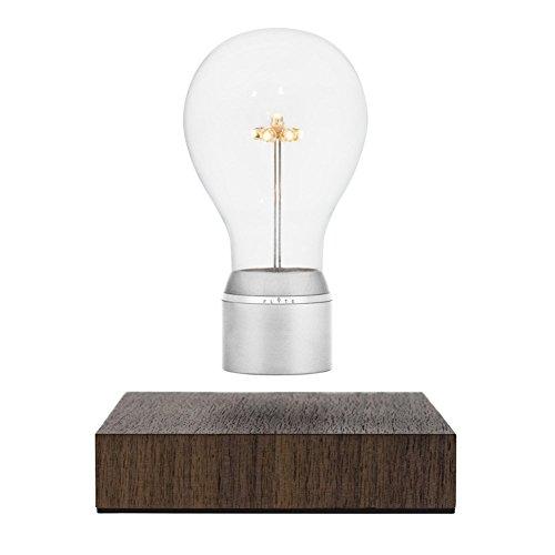 - Flyte Manhattan - Original, Authentic Floating Levitating LED Light Bulb Lamp (Walnut Base, Chrome Cap Bulb)