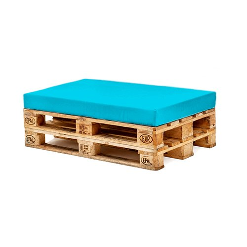 Turquoise Water Resistant Seat Pad for Pallet Furniture Outdoor Seating Gardenista