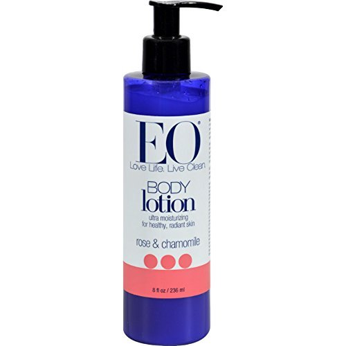 EO Products Everyday Body Lotion Rose and Chamomile - 8 fl (Eo Essential Oils Body Lotion)