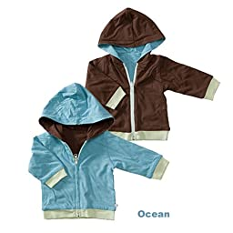 Baby Soy Year Round Reversible Hoodie (Size: 6-12M, Ocean/Chocolate)