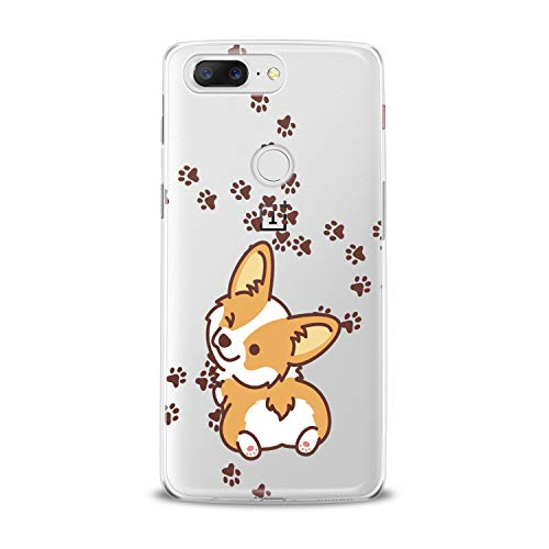 Lex Altern TPU Case for OnePlus 7 Pro 6T 6 2019 5T 5 2017 One+ 3 1+ Cute Puppy Corgi Kawaii Dog Clear Cover Funny Animal Wink Silicone Print Durable Design Paws Girl Women Teen Flexible Top Trend