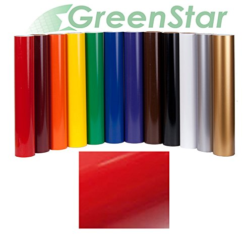 Greenstar Real Red Sign Vinyl 24 x 10Yd, Graphics and Lettering Crafts Interior and Exterior