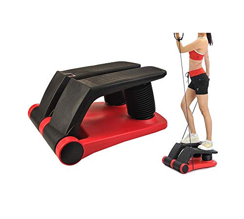INTBUYING Air Stepper Climber Fitness Machine Resistant Cord Air Step Aerobics Machine Stair Stepper Exercise Equipment with CD Exercise Slimming Machine