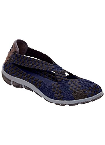 - AngelSteps Women's Adult Aspen Fashion Sneakers 7 Wide US Women/Blue/Black