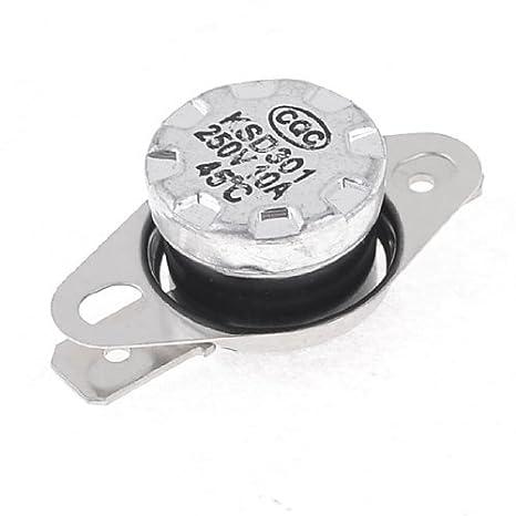eDealMax KSD301 45 Celsius Normalmente termostato interruttore Chiudi Temperatura - - Amazon.com
