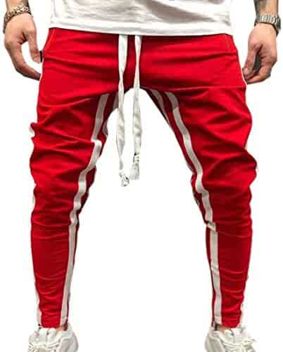 f154ab3ec3 ZXFHZS Mens Bodybuilding Workout Running Jogger Slim Fit Sweatpants