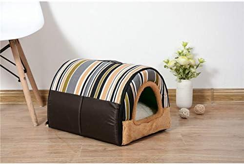 TZMR Pequeño Perro Mediano Plegable Cama para Mascotas Bolsa de Dormir para Cachorros casa para Perros Nido de Pared con Almohadilla Plegable Cama para Gato: Amazon.es: Productos para mascotas