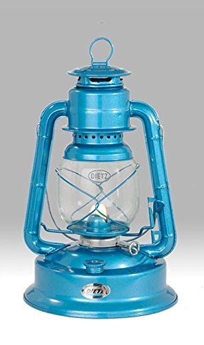 (Dietz #1 Little Wizard Oil Lamp Burning Lantern Blue)