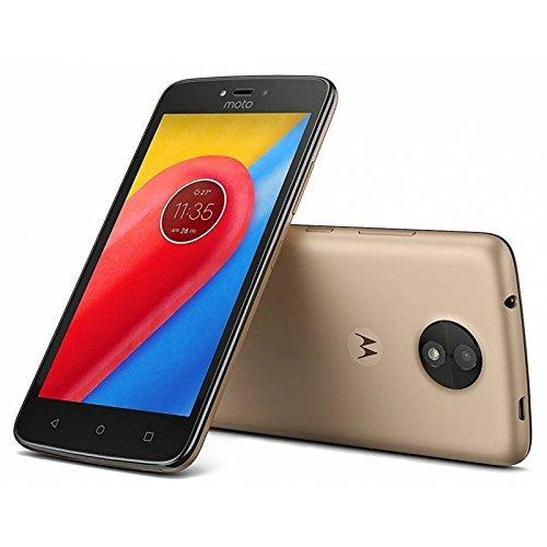Motorola Moto C Plus 4G LTE Unlocked XT1723 Quad Core 16GB Android 7.0 Dual Sim 5 Inch International Version (Fine Gold) by Motorola