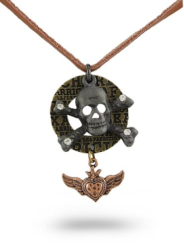 leather-necklace-w-skull-crossbones-pendant-and-dangling-winged-heart