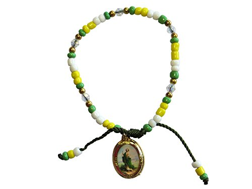 Bead Bracelet with Attached Jude the Apostle Medal