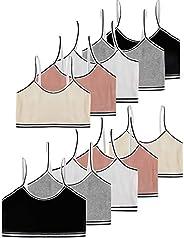 VISKEY 10 Pack Girls Cotton Spandex Cami Crop Training Bras Unpadded Bralettes