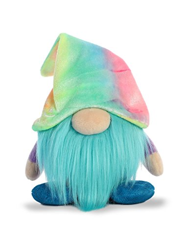 Aurora World Plush Gnomlin, Zoobie Tie Dye Gnome (Zoobies Plush Soft Toy)
