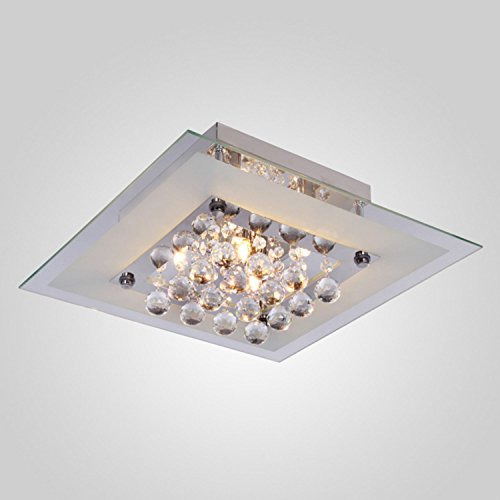 Lightess Mini Chandeliers Contemporary Crystal Drop Flush Mount Ceiling Lights Fixture with 5 Lights in Square Design by LIGHTESS (Image #1)
