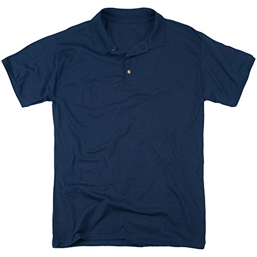 Back To The Future Mens Other Ride (Back Print) Polo, XXX-Large, Navy