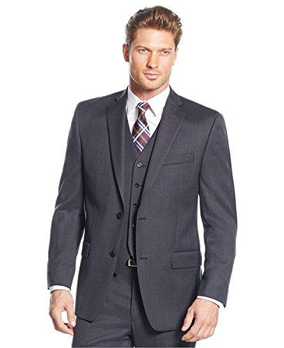 MIchael Kors Charcoal Birdseye Two Button Wool New Men's Sport Coat (40 Regular) (Birdseye Suit Jacket)