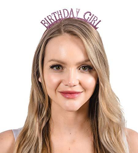 - Dulcet Downtown Birthday Girl Rose Glitter Headband