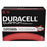 Duracell QU1300 Quantum Alkaline D Batteries (Pack of 12)