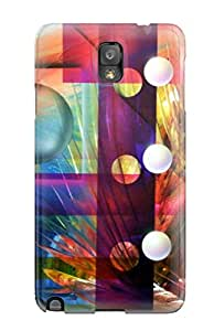 For Galaxy Note 3 Premium Tpu Case Cover Abstract Painting Protective Case