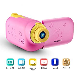 """Kids Video Camera for Girls Gift,hyleton 1080P FHD Digital Kids Camera Camcorder Video Recorder DV with 2.4"""" Screen for Age 3-10"""