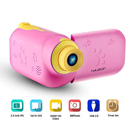 Find Discount Kids Video Camera for Girls Gift,hyleton 1080P FHD Digital Kids Camera Camcorder Video...