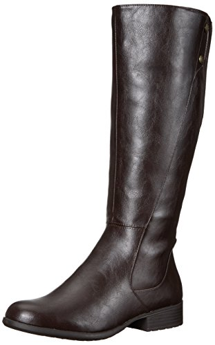 LifeStride Women's Xripley Riding Boot, Dark Brown, 5 M US