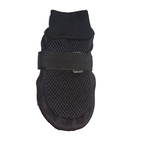 Ecloud Shop® Mascota del perrito del animal doméstico Botas zapatos de malla transpirable suela de goma antideslizante Soft