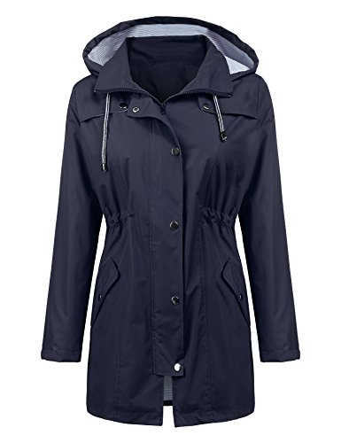 ladies hooded raincoat - 1