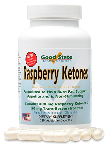 UPC 857515003817, Good State - Raspberry ketones formula - 120 vegetarian capsules - 400 mg. per capsule (120) )