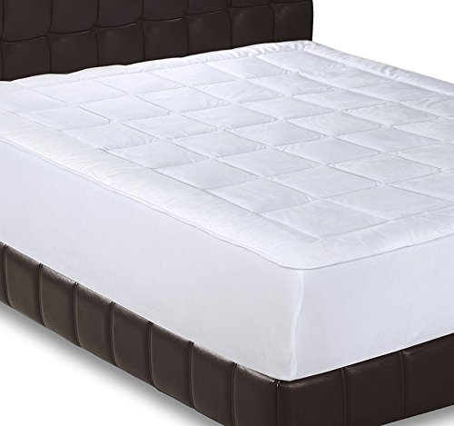 Utopia Bedding Micro Plush Ultra Soft and Overfilled Fleece Queen Mattress Pad (Bedding Queen Mattress)