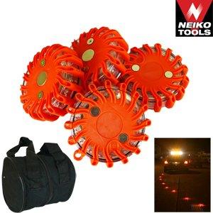 Vehicle Road Flare Set 4 PC Rechargable LED Flare Set