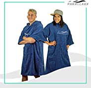 Parallaxx All Weather Surf Poncho Changing Towel   Microfibre Cotton Windproof Waterproof Warm Change Robe