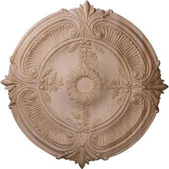 Ekena Milwork Carved Acanthus Leaf Ceiling Medallion - 24 diam. in., White, Maple
