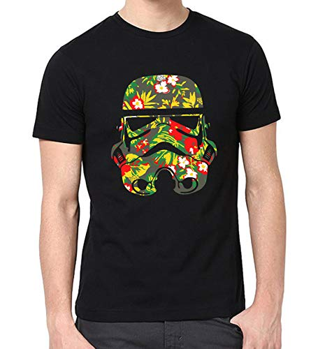 Mens Star Wars Stormtrooper T-Shirt - Adult Stormtrooper Floral Print Shirt (X-Large)