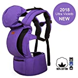 MaxKare Baby Carrier Infant Toddler Baby Backpack 100% Cotton in Ergonomic Position 3 Carrying Ways with Large Breathable Mesh Accessories Pockets and Hood