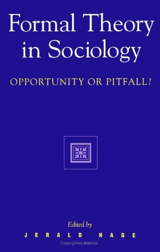 Formal Theory In Sociology Opportunity Or Pitfall  pdf epub download ebook