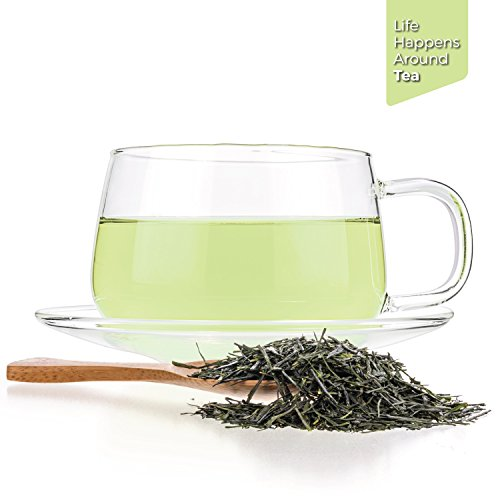 Tealyra - Gyokyro Shizuoka Japanese - Finest Hand Picked - Green Tea - Highest Premium Tea - Loose Leaf Tea - Organically Grown - 200g (7-ounce) by Tealyra (Image #2)