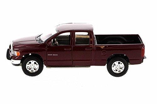 Maisto 2002 Dodge Ram Quad Cab Pick Up Truck, Maroon 31963MR - 1/27 Scale Diecast Model Toy Car