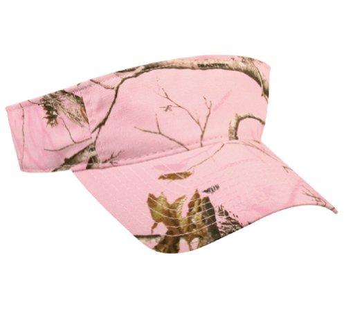 Realtree Pink Camo Visor Baseball Cap, Velcro, Ponytail Friendly