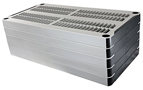 "HDX 36"" x 72"" 5-Tiered Ventilated Plastic Storage Shelving Unit w/ Raised Feet and Tool-Free Assembly by HDX (Image #4)"