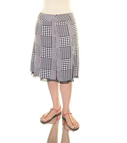 Sunny Leigh Women's Pleated Skirt Size 6 Cream/Black - Leigh Sunny Skirts