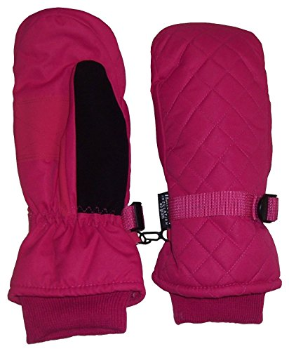 N'Ice Caps Unisex Quilted Thinsulate and Waterproof Ski Mitten (5-7yrs, fuchsia) (Quilted Mittens)