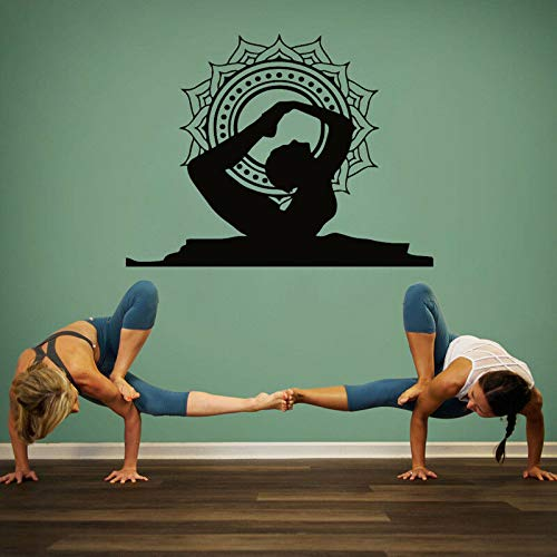 supmsds Yoga Bow Pose Adhesivos de Pared Mandala ...