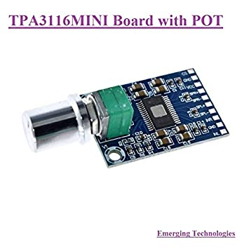 DC 12V 24V Mini TPA3116D2 2x 50W Digital Audio Power Amplifier Board Class D Amp
