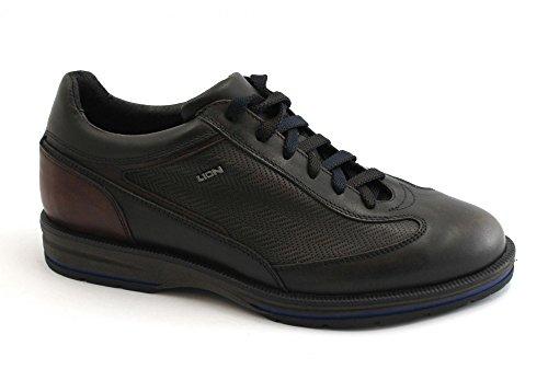 scure Sneakers Lion pelle Scarpe in 11581 marrone marroni Stringate uomo wSF4xq