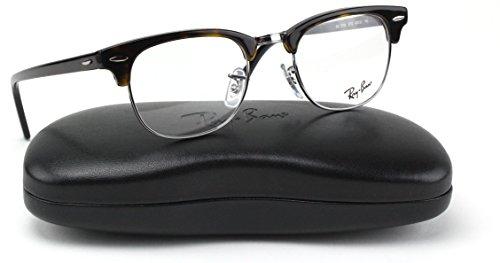 Ray-Ban RX5154 Unisex Clubmaster Eyeglasses (Dark Havana Frame 2012, 49)