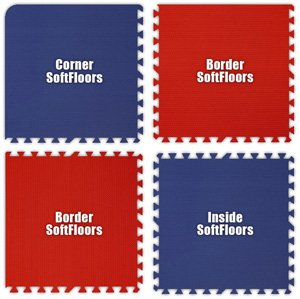 Alessco SFRBRD1420 SoftFloors -Royal Blue & Red Checkerboard