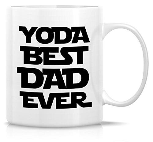 Retreez Funny Mug - Yoda Best Dad Ever 11 Oz Ceramic Coffee Mugs - Funny, Sarcasm, Sarcastic, Motivational, Inspirational birthday gifts for dad, papa, father, father's day gift.